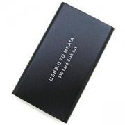 Кутия за SSD диск USB3.0 to mSATA адаптер, HDD BOX 1.8