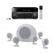 Pachet Receiver AV Yamaha MusicCast RX-A2060 + Boxe Morel SoundSpot MT-1