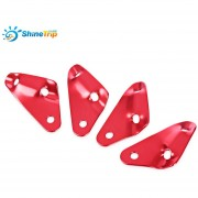 SHINETRIP Camping Picnic Senderismo 4pcs Triangular (Rojo)