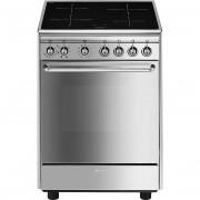 SMEG Cx60isv9 Cucina 60x60 4 Zone Cottura A Induzione Forno Ventilato 70 Litri C