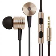 Maxy Mi Auricolare A Filo Stereo Super Bass Headphones In-Ear Jack 3,5mm Universale Gold Per Modelli A Marchio Apple