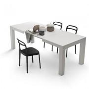 Mobili Fiver Mesa de cocina extensible, modelo Iacopo, color Fresno Blanco