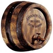 Design Toscano Barril de Vino para decoración de viñedo francés, Escultura de Pared, Color Completo, 43 cm (18 Pulgadas), 1