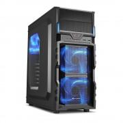 Carcasa VG5-W, MiddleTower, Fara sursa, Negru/Albastru