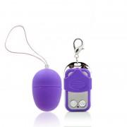Vibrador Bullet - Egg Aveludado - 10 Velocidades - Sem Fio - Roxo