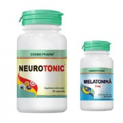 Neurotonic+Melatonina 3mg, 30cps+10cps, Cosmo Pharm
