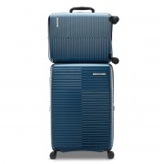 Samsonite Stack-IT 2 Piece Hardside Suitcase/Luggage Set 4 Wheel Spinner Blue