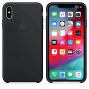 Apple Silicone Case - оригинален силиконов кейс за iPhone XS (черен)