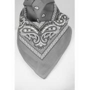 bandana / boerenzakdoek in grijs/wit