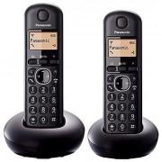 Panasonic KX-TGB212EB Digital två handenhet svart sladdlös telefon med LCD-Display