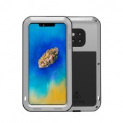 LOVE MEI Dust-proof Shock-proof Splash-proof Defender Phone Shell for Huawei Mate 20 Pro - Silver