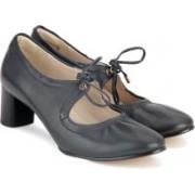 Clarks Grace Isla Black Leather Lace Up For Women(Black)