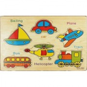 Emob Wooden Educational Learning Jigsaw Vehicle Puzzle Board Game for Kids and Toddler (1 Pieces)