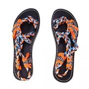 TENDYCOCO , sandalias planas de verano para mujer, flip flop, zapatos con punta de clip (naranja)