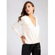 Marciano Guess Marciano Crepe Top - Wit - Size: Extra Large