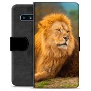Samsung Galaxy S10+ Premium Portemonnee Hoesje - Leeuw