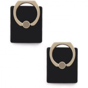 360 degree rotating pair of Black ring Mobile Holder