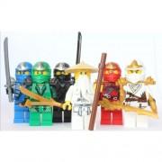LEGO Ninjago - Sensei Wu + 5 ZX Ninjas - Lloyd, Kai, Cole, Jay & Zane