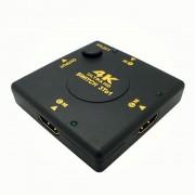 3x1 (3 input ports) Manual Ultra HD 4k HDMI Switch - Push Button Type