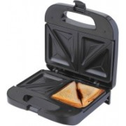 Chefman Sandwich Maker Makes 2 Full Sandwiches with Deep Non-Stick Pockets Black Grill(Black)