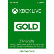 Microsoft Studios Xbox Live Gold 3 months XBOX Live Key EUROPE