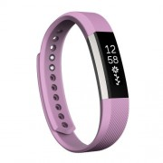 For Fitbit Alta Watch Oblique Texture Silicone Watchband Small Size Length: about 18.5cm (Light Purple)