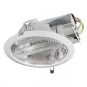 Kanlux 4820 RALF DL220-WE27, beltéri mélysugárzó, E27 foglalattal, 2X20 W teljesítménnyel, fehér színben, IP20-as védelemmel, 220-240 V, ( süllyesztett szereléssel ), lámpatest: acéllemez; keret és reflektor: alumínium; búra: edzett üveg