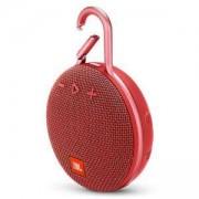 Преносима колонка JBL Clip 3 RED, Bluetooth, възпроизвеждане до 10 часа, водоустойчивост – IPX7, червена, JBLCLIP3RED