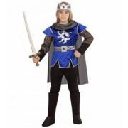 Costum Rege Arthur Albastru 5 - 7 ani 128 cm