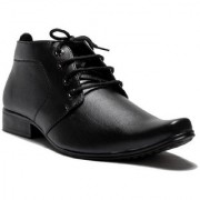 00RA ANKLE LENGTH BLACK COLOR OFFICE WEAR FORMAL SHOES FOR MEN LONG MEN'S BOOTS