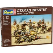 Revell Assembly Model Kit - German Infantry Africa Corps WWII 1:72 Scale