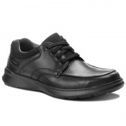 Pantofi CLARKS - Cotrell Edge 261373857 Blk Smooth Leather