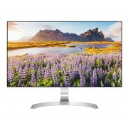 "LG 27UD88-W, 27"" Wide LED, IPS Panel Anti-Glare, 5ms, 1000:1, Mega DFC, 300 cd/m2, 3840x2160, sRGB 99%, HDMI, DisplayPort, USB-C, FreeSync, Headphone out, Tilt, Height, Pivot, Silver spray/White High glossy"