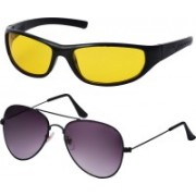 Freny Exim Aviator, Sports Sunglasses(Violet, Yellow)