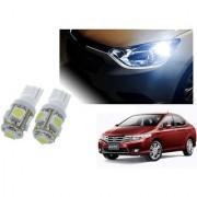 Auto Addict Car T10 5 SMD Headlight LED Bulb for Headlights Parking Light Number Plate Light Indicator Light For Honda City Ivtec(2010-2014)
