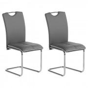 IDIMEX Lot de 2 chaises ELEONORA, en synthétique gris