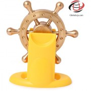 Globalurja Lucky Wheel for Office Desk(Pragati Chakram) with Yellow Stand