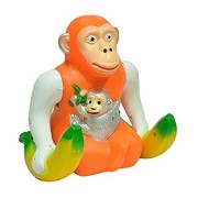 PLAY DESIGN Funny Orangutan Banana Monkey Musical light jumping skipping Funny Gift toy for Kids ( Multi color)