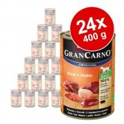 Pachet economic Animonda GranCarno Original Adult 24 x 400 g - Vită și inimă