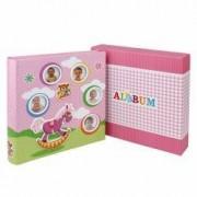 Album foto Kids Toys personalizabil 200 poze 10x15 cm slip-in notite roz