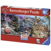 Puzzle Copii 4Ani+ Cars panoramic, 200 piese