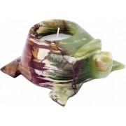 Bougeoir tortue en marbre onyx