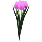 Merkloos 5x Roze houten tulpen 35 cm kunstbloemen