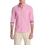 Report Collection Micro Print Slim Fit Shirt 24 PINK