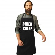 Shoppartners Diner chief keukenschort zwart heren - Action products
