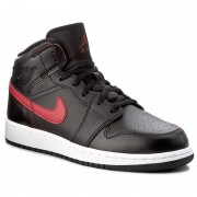 Pantofi NIKE - Air Jordan 1 Mid Bg 554725 009 Black/Gym Red/Gym Red/White