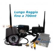 Telecamera Wireless a Lungo Raggio fino a 700mt 1.2Ghz 700mW