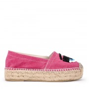 "Chiara Ferragni Collection Espadrillas Chiara Ferragni ""Flirting"" in canvas rosa"