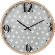 Emako Kulaté hodiny, nástěnné hodiny, moderní hodiny ATOMIC, Ø 33 cm, barva šedá