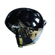 Casca ski Spartan negru/auriu